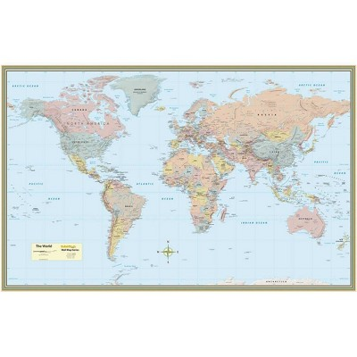 World Map Poster (32 X 50 Inches) - Laminated - 2nd Edition by  Mapping Specialists (Sheet Map, Flat)