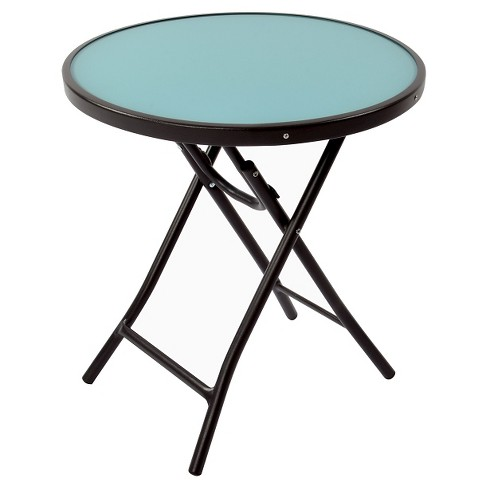 Gl Folding Patio Accent Table Threshold