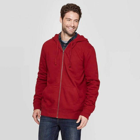 Men's Standard Fit Ultra-Soft Full Zip Fleece Hoodie - Goodfellow & Co™ - image 1 of 3