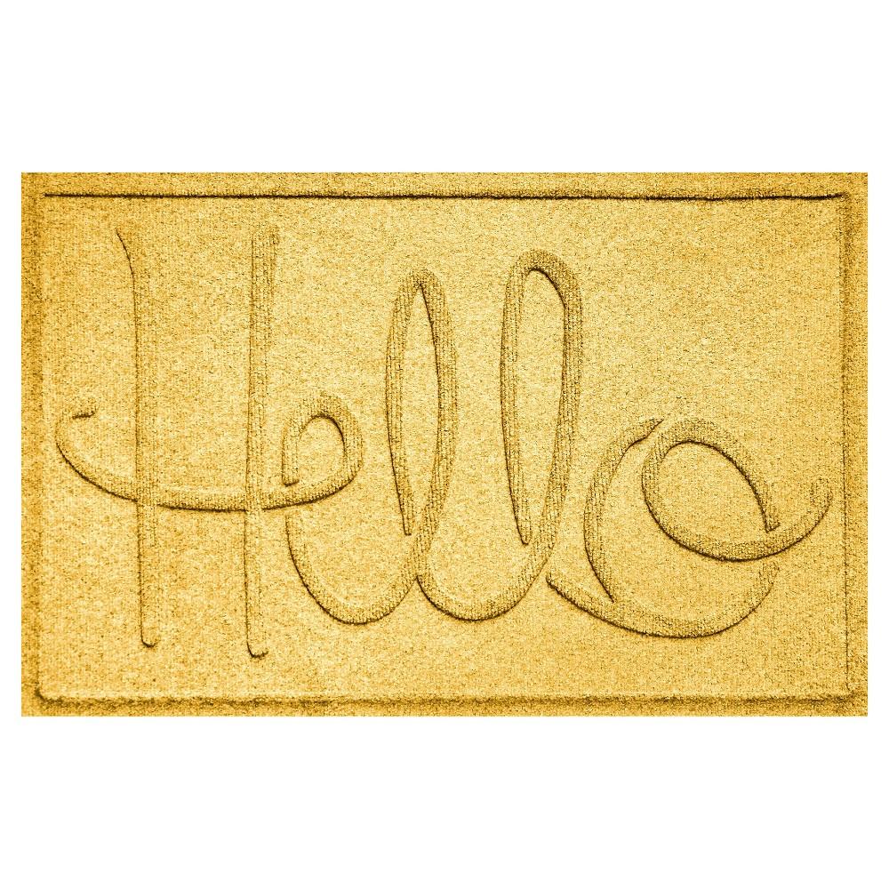 Image of Yellow Typography Pressed Doormat - (2'X3') - Bungalow Flooring