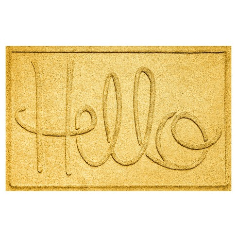 Yellow Typography Pressed Doormat - (2'X3') - Bungalow Flooring - image 1 of 2