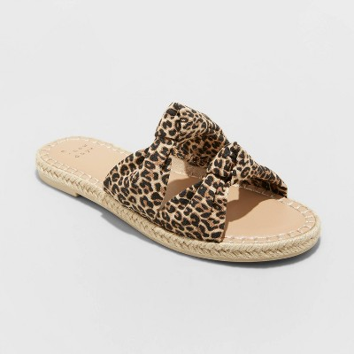 Women's Miriam Double Knotted Espadrille Slide Sandals - A New Day™