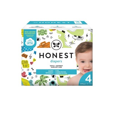 The Honest Company Good Vibes & L8ter Gator Disposable Diapers - Size 4 - 60ct