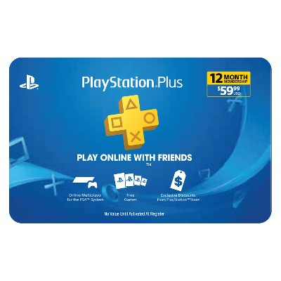 PlayStation Plus 12 Month Membership $59.99 (Email Delivery)