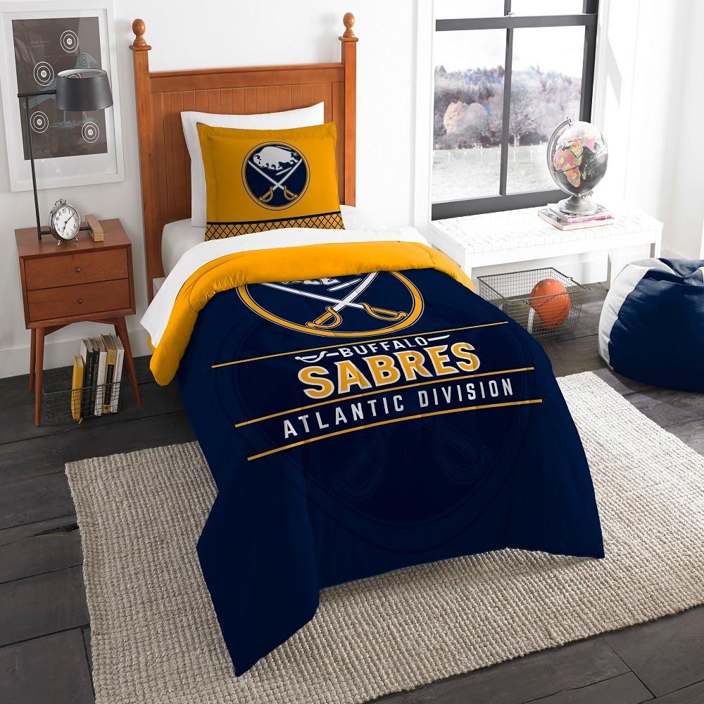 NHL Buffalo Sabres Northwest Draft Twin Comforter Set