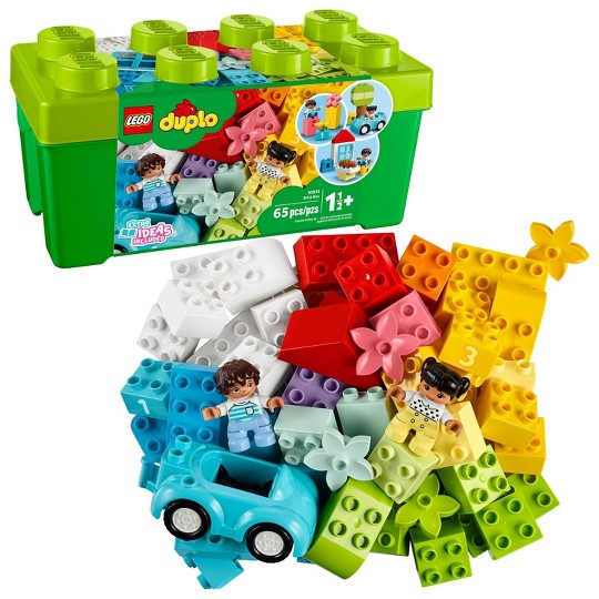 LEGO DUPLO Classic Brick Box First LEGO Set with Storage Box 10913 image number null