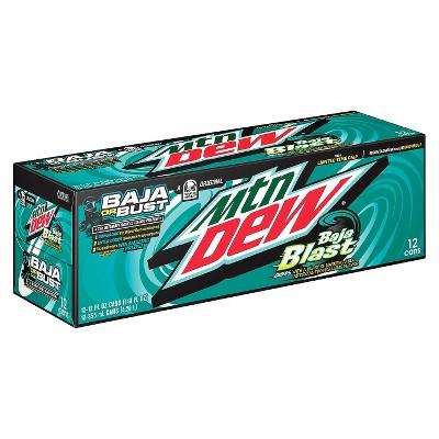Mountain Dew Baja Blast - 12pk/12 fl oz Cans