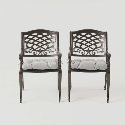 Phoenix 2pk Aluminum Dining Chair - Christopher Knight Home