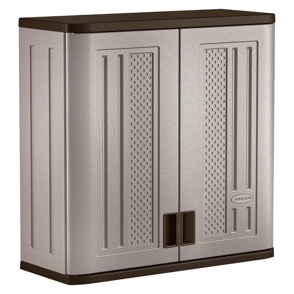Suncast Wall Mounted Utility Storage Cabinet, Gray