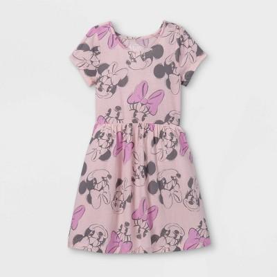 Girls' Disney Minnie Mouse Skater Dress - Pink