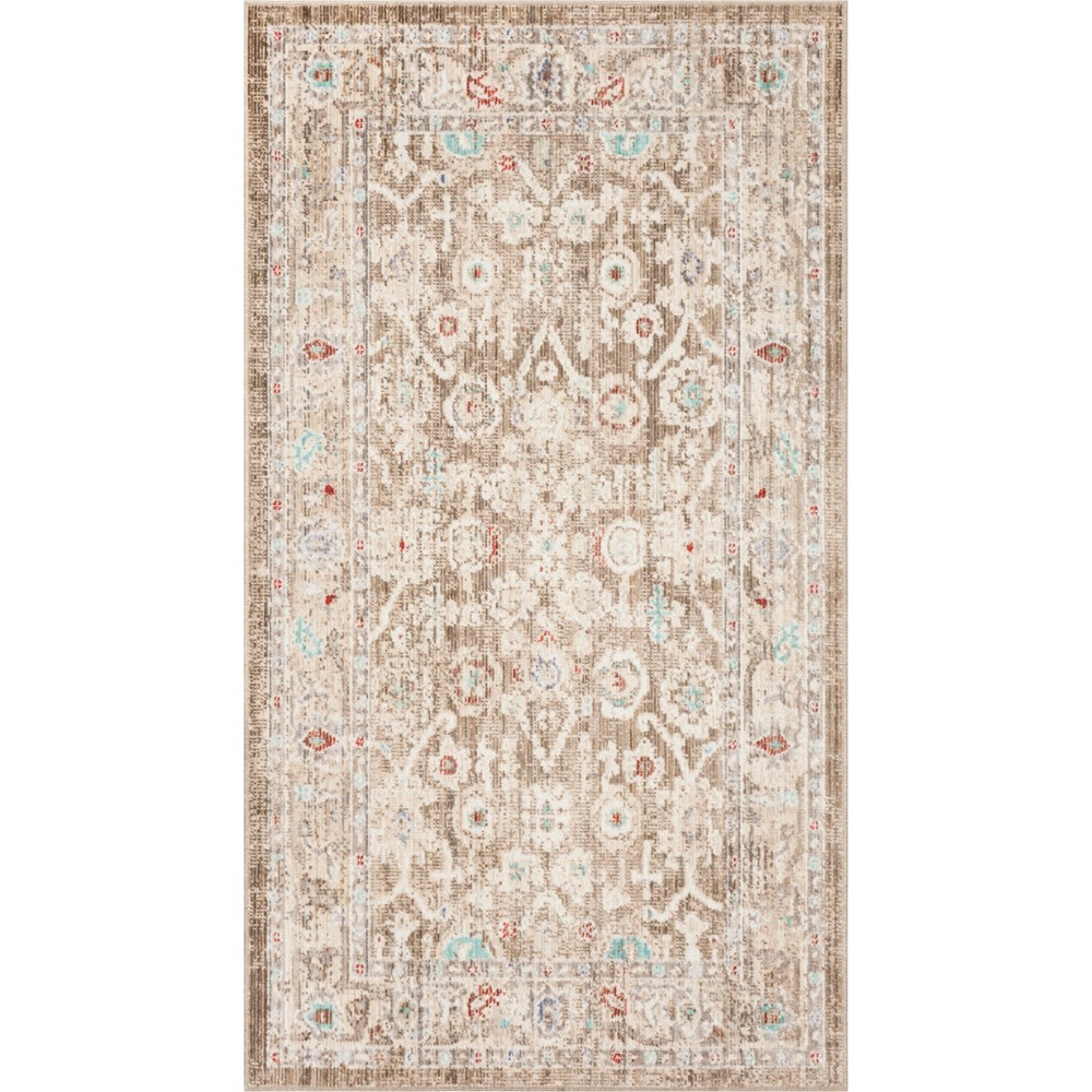 5'X7' Shapes Loomed Area Rug Brown/Ivory - Safavieh