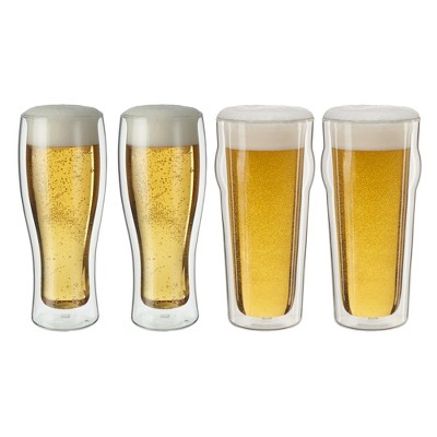 ZWILLING Sorrento 4-pc Double-Wall Pint & Pilsner Glass Set
