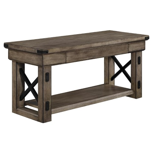 Hathaway Wood Veneer Entryway Bench - Room & Joy - image 1 of 4
