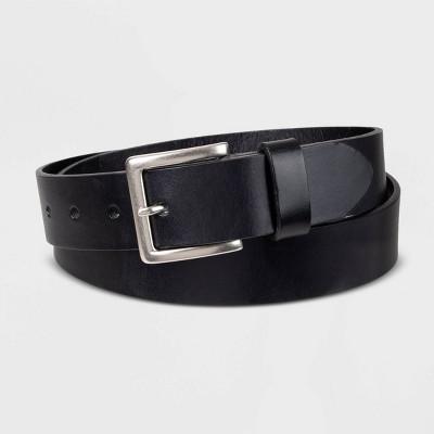Men's 35mm Leather Belt - Goodfellow & Co™ Black