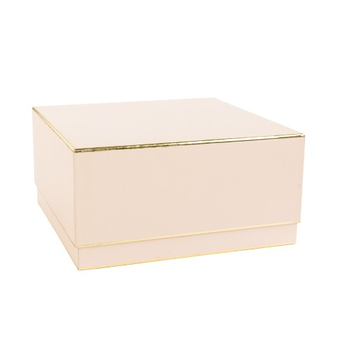 Pale Pink With Gold Edge, Large Square Box - sugar paper™ - image 1 of 1