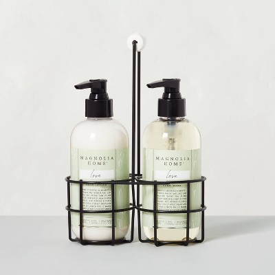 Hand Soap + Lotion Caddy Set Love - Magnolia Home by Joanna Gaines