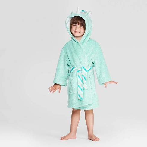 Toddler Girls' Unicorn Robe - Cat & Jack™ Mint - image 1 of 3