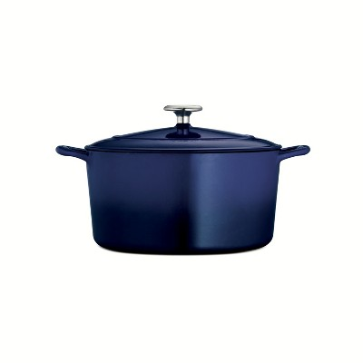 Tramontina Gourmet 6.5qt Enameled Cast Iron Round Dutch Oven with Lid Cobalt