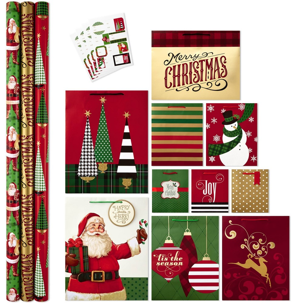 Image of Hallmark All In One Christmas Gift Wrapping Set