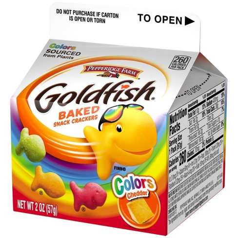 Pepperidge Farm Goldfish Colors Cheddar Crackers - 2oz Carton - image 1 of 4