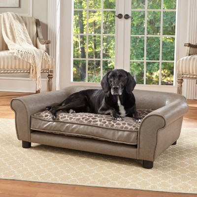 Enchanted Home Pet Rockwell Pet Sofa - L - Pewter