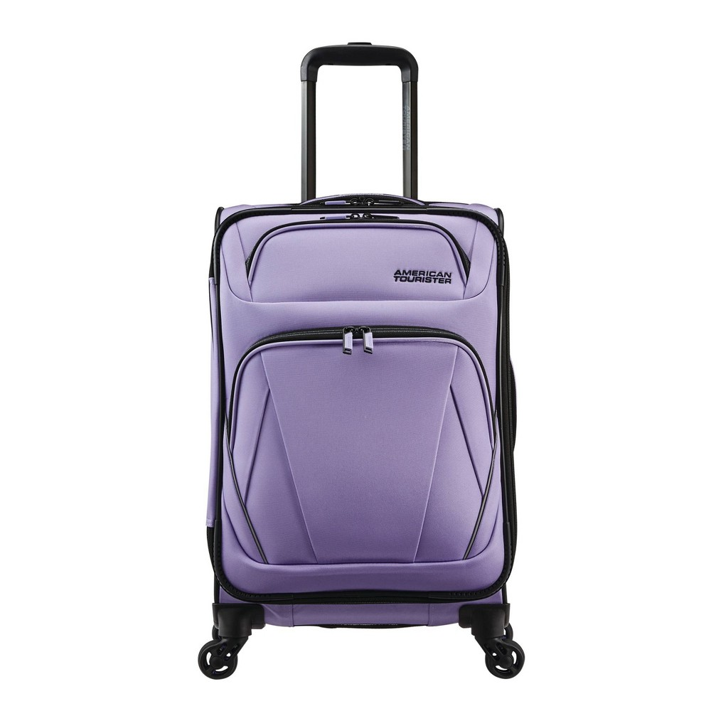 """Image of """"American Tourister 20"""""""" Superset Carry On Spinner Suitcase - Icy Lilac, Icy Purple"""""""