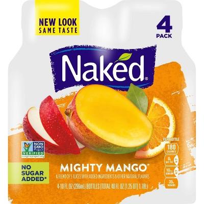 Naked Mighty Mango Vegan Juice 10oz 4pk