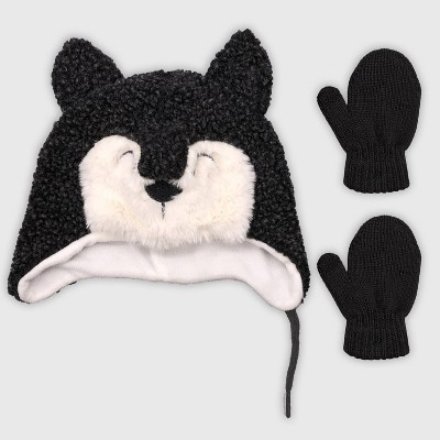 Baby Boys' Hat And Glove Set - Cat & Jack™ Gray 12-24M