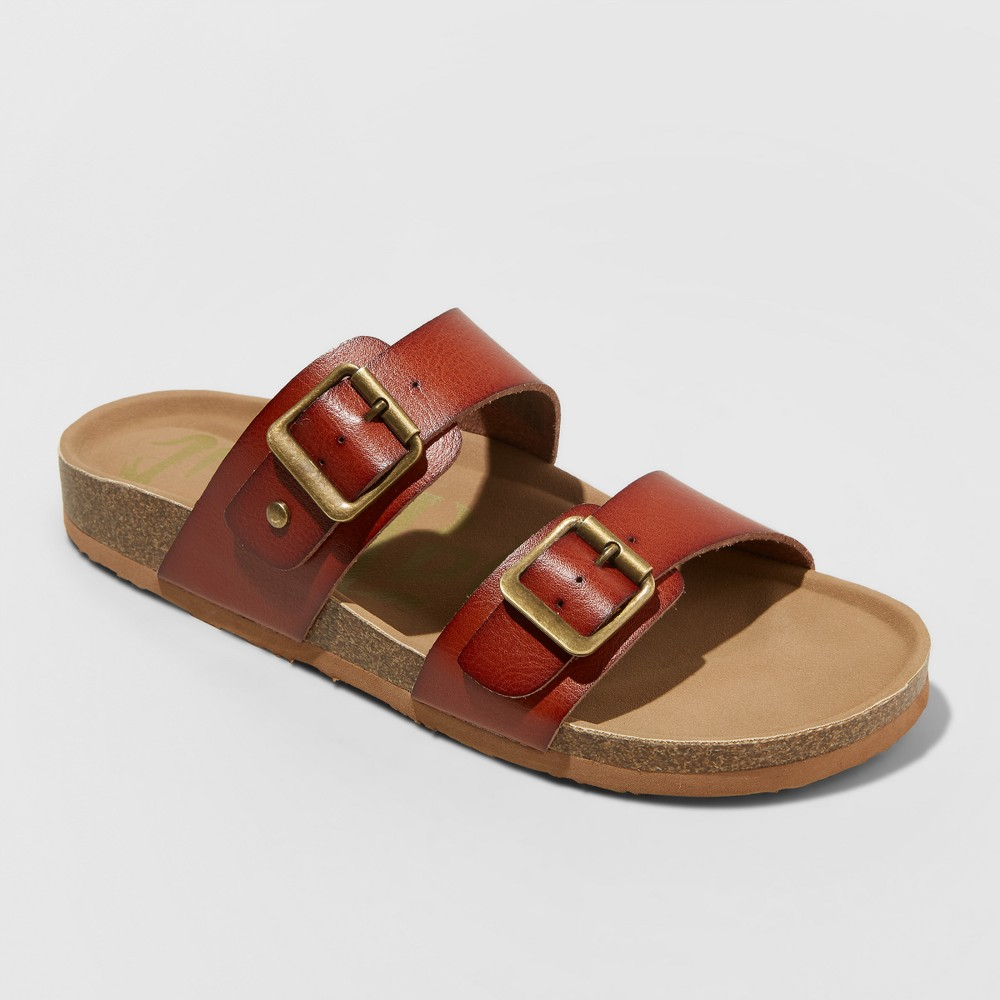 Women's Mad Love Keava Footbed Sandals - Cognac (Red) 5
