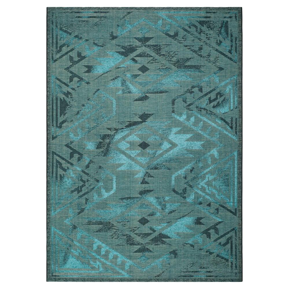 Tate Area Rug - Black / Turquoise (8' X 11') - Safavieh, Black/Turquoise