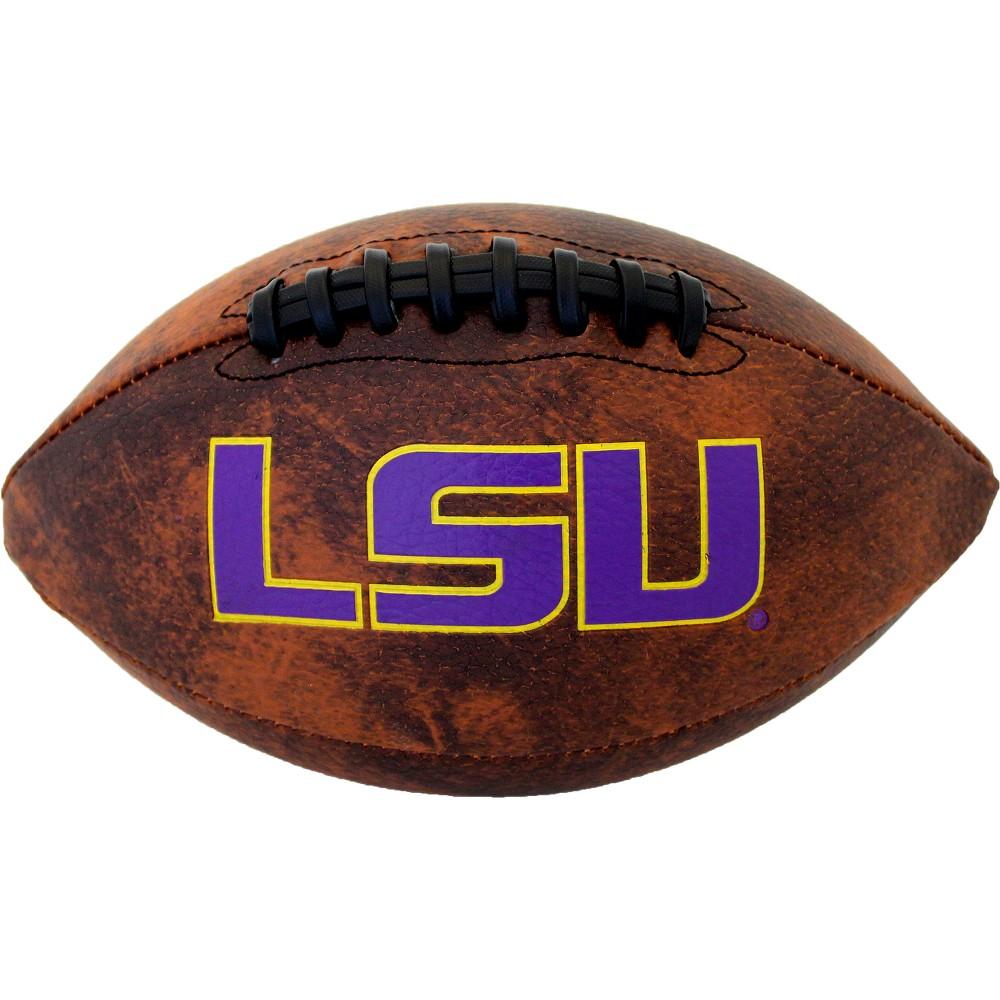 NCAA Lsu Tigers Vintage Mini Football, Purple/Gold