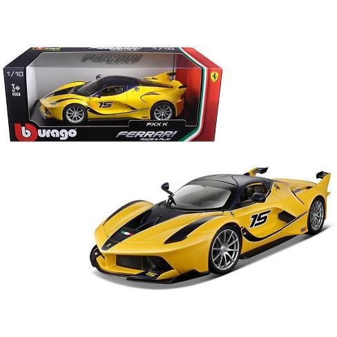 Ferrari FXX-K #15 Yellow 1/18 Diecast Model Car by Bburago - image 1 of 1