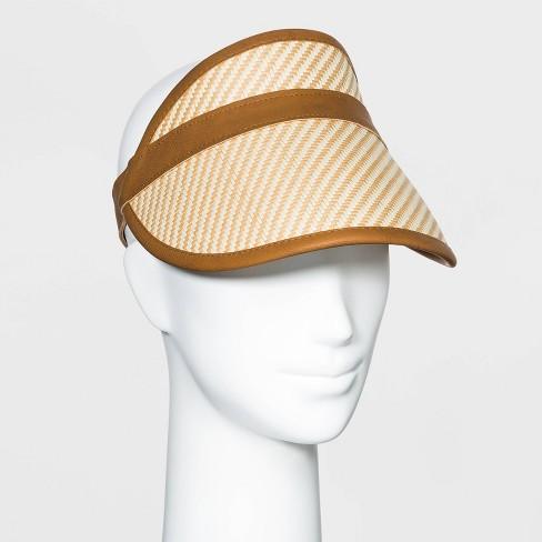 Women's Straw Visor Hat- Universal Thread™ - image 1 of 2