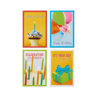 12ct Assorted Photo Happy Birthday Cards And Envelopes