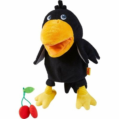 HABA Theo The Raven Glove Puppet with Cherries