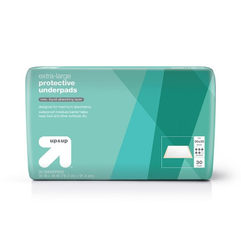 Protective Bed Underpads - Maximum Absorbency - Extra Large - 30ct - Up&Up™ - image 1 of 3