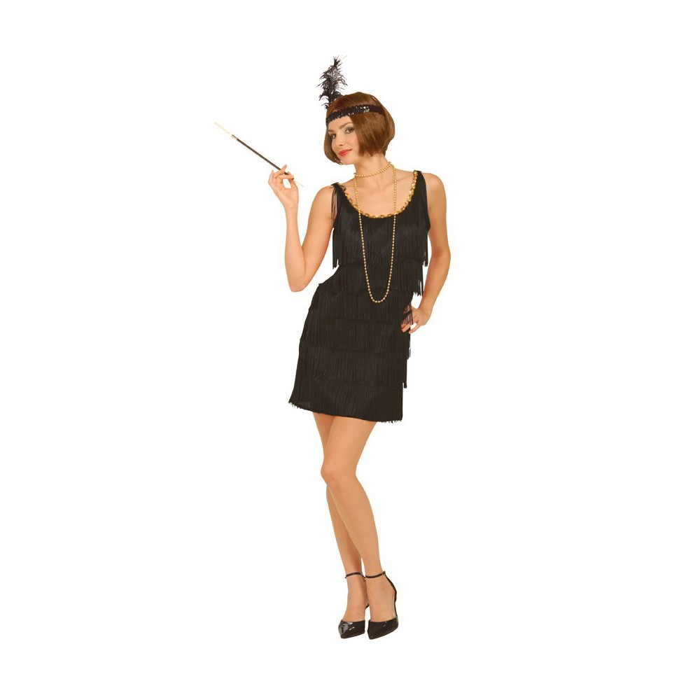 Image of Halloween Flapper Women's Costume Black - XS/Small (2-6)