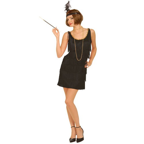 Halloween Women's Flapper Plus Size Costume Black - 1X, Size: XL