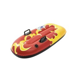 Bestway H2GO Snow Flurryz Sled Outdoor Inflatable Kids Snow Tube Sled, Red