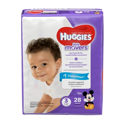 Huggies Little Movers Diapers Jumbo Pack (Select Size) - image 1 of 5