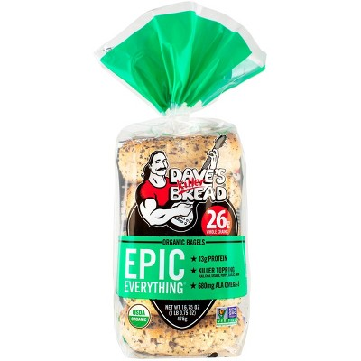 Dave's Killer Bread Epic Everything Organic Bagels - 16.75oz
