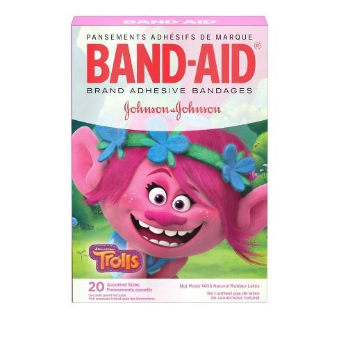 Band-Aid Disney DreamWorks Trolls Assorted Sizes Adhesive Bandages - 20ct - image 1 of 4
