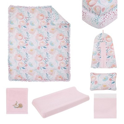 NoJo Watercolor Blossoms Crib Bedding Set - 8pc