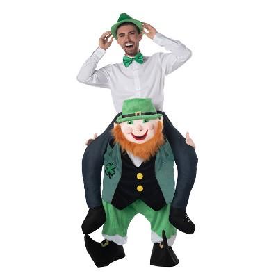 Adult Carry Me Leprechaun Halloween Costume