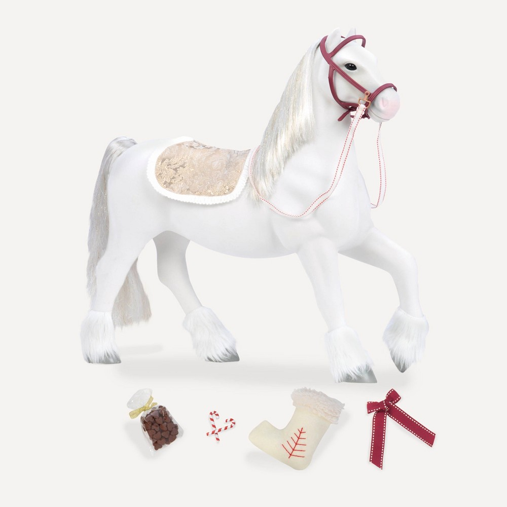 Our Generation White Clydesdale Horse for 18 Dolls