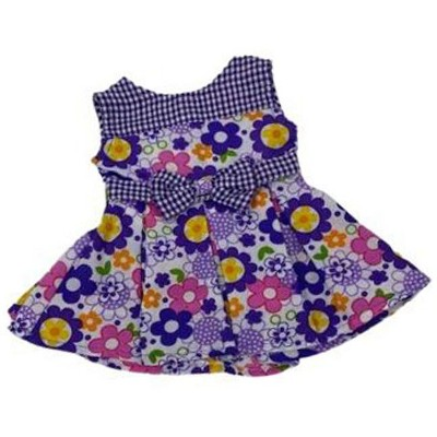 Checks And Flowers Dress Fits 18 Inch Girl Dolls Like American Girl Our Generation My Life Dolls