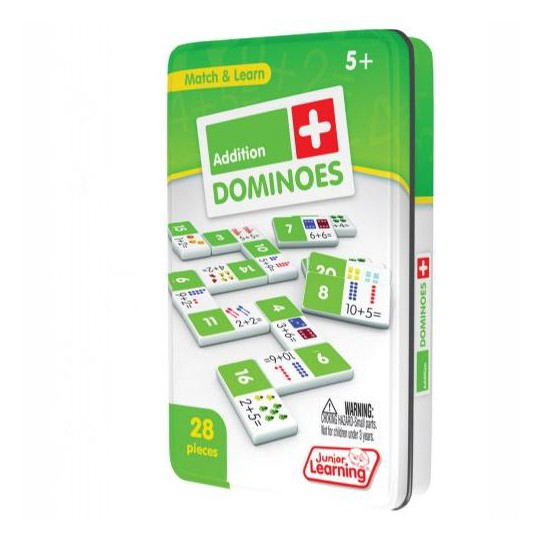 Junior Learning Addition and Subtraction Dominoes Game Set - 56 Dominoes image number null