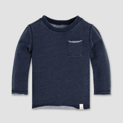 Burt's Bees Baby® Baby Boys' Terry Denim Wash Sweatshirt - Midnight 12M