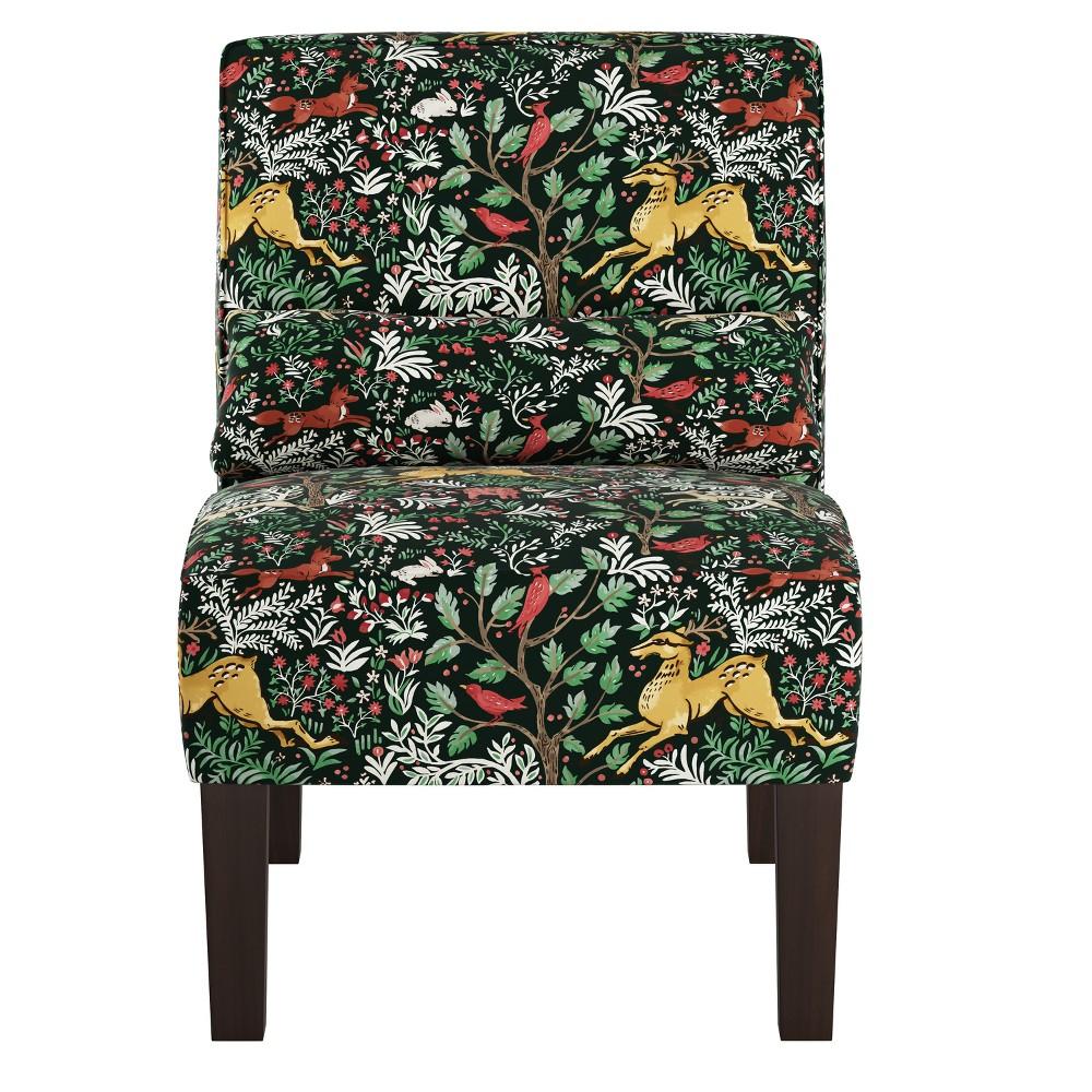 Armless Chair Frolic Evergreen - Skyline Furniture