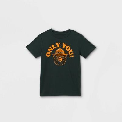 Boys' Smokey Bear Earth Day Short Sleeve Graphic T-Shirt - Green